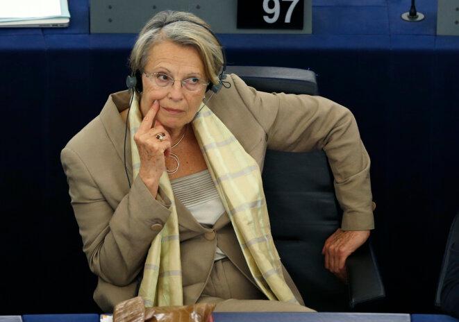 MAM, le 1er juillet 2014, au Parlement européen. © Reuters