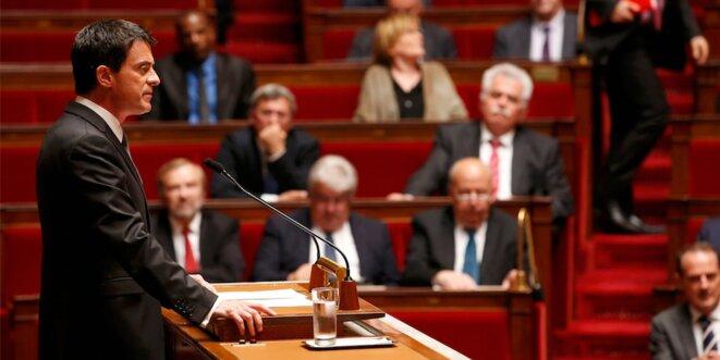Manuel Valls, ce mardi à l'Assemblée. © Reuters