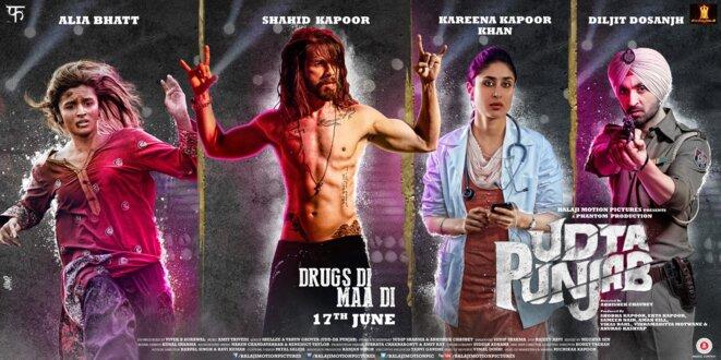 Une affiche du film «Udta Punjab», menacé de censure. © Balaji Motion Pictures