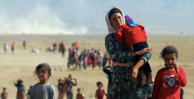 Yézidis chassés de leurs terres en Irak par les combattants de l'État islamique. © Reuters