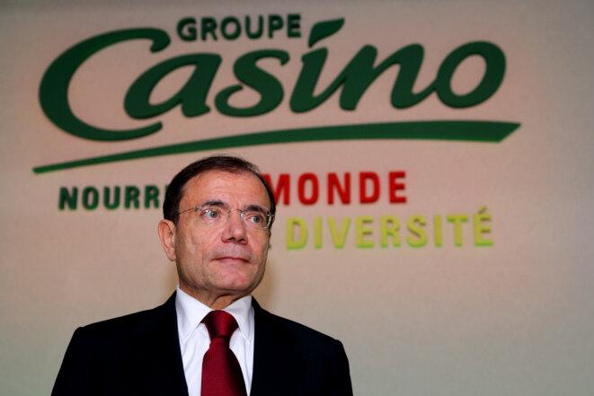 Jean-Charles Naouri, PDG de Casino, en février 2013. © Reuters - Philippe Wojazer