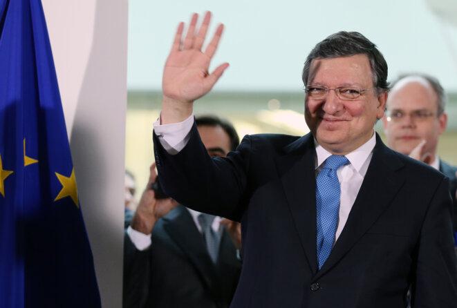 José Manuel Barroso le jour de son départ de la commission européenne, le 30 octobre 2014. © Reuters / François Lenoir.