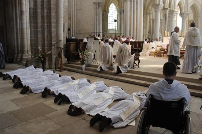 Le 2 juillet 2016 à la basilique Sainte Marie-Madeleine à Vézelay dans l'Yonne. © Communauté Saint-Jean