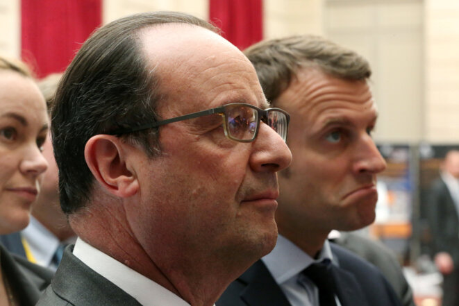 Hollande et Macron © Reuters