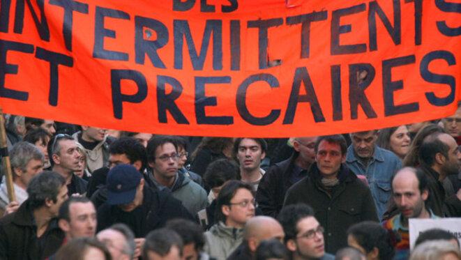 Manifestation d'intermittents et précaires contre la Loi Travail