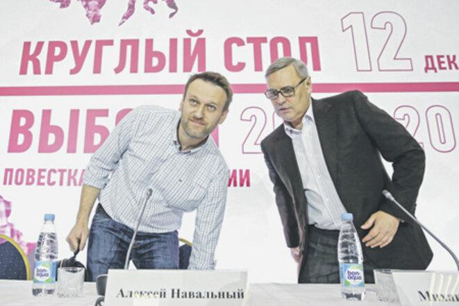 Alexeï Navalny et Mikhaïl Kassianov, du temps de leur alliance, avril 2015