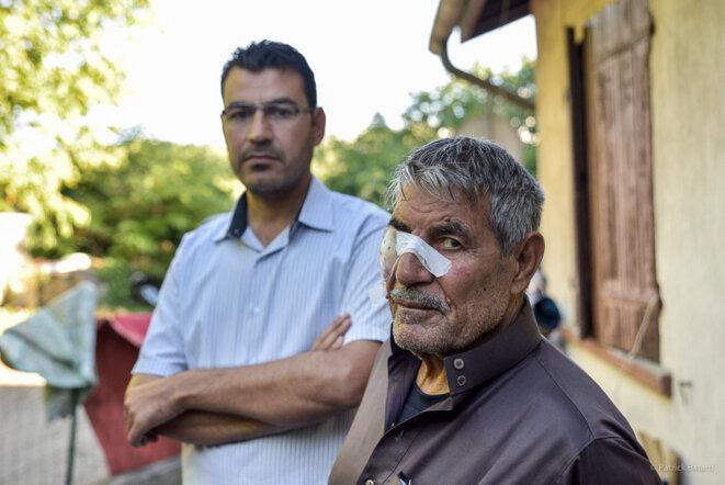 Omar et son père © Patrick Batard