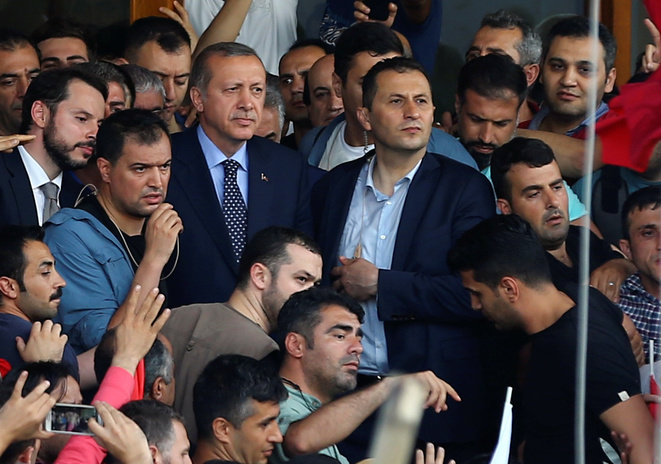 Erdogan, au lendemain de la tentative de coup d'Etat. © Reuters