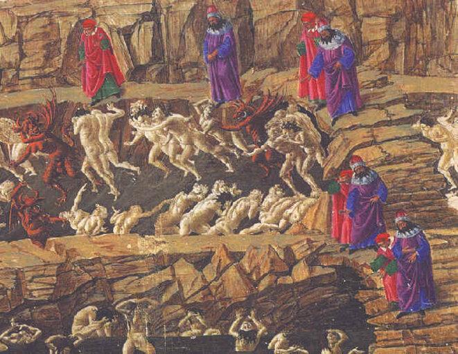 L'Enfer chant XXVI Botticelli