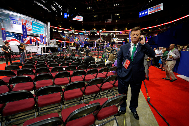 Paul Manafort, directeur de campagne de Donald Trump, à la convention républicaine de Cleveland. © Reuters