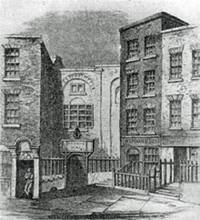 The New Music Hall in Fishamble Street, Dublin, where Messiah was first performed