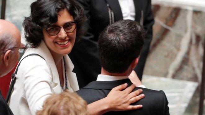 Myriam El Khomri et Manuel Valls, mercredi 20 juillet à l'Assemblée. © Reuters