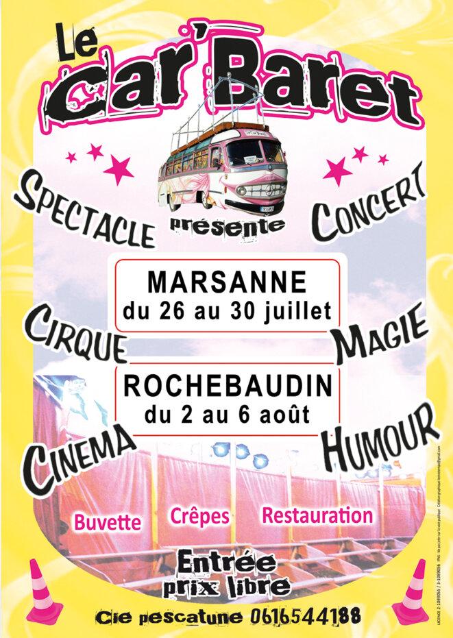 """Le festival """"Car'Baret Tour 2016"""" © Léonie Tempo"""