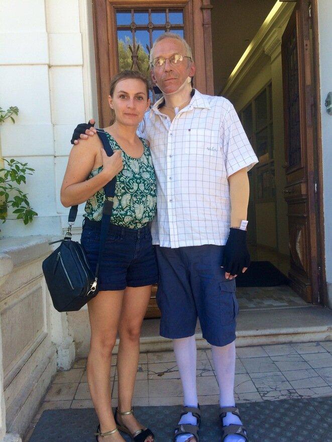Patrice Claude avec sa fille