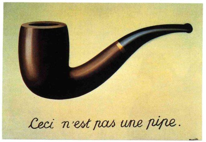 René Magritte, La Trahison des images, 1928–29, huile sur toile, 59 × 65 cm