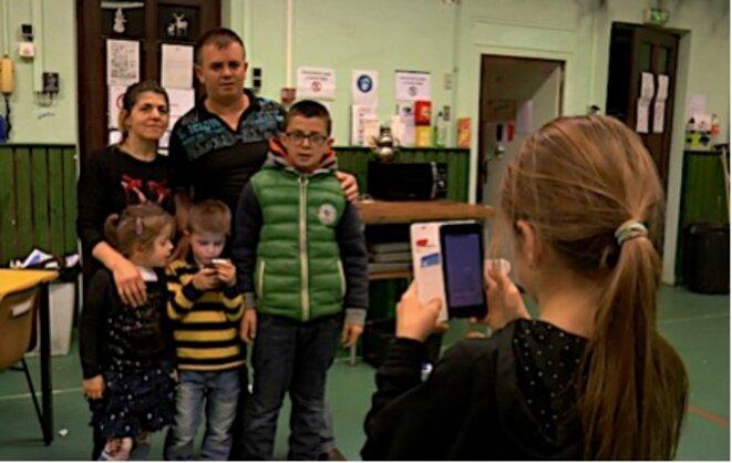 Réveillon du 1er de l'an. La famille est à l'école des Fins depuis un mois et demi.