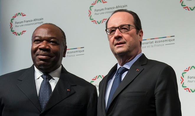 Ali Bongo with French President François Hollande. © Reuters