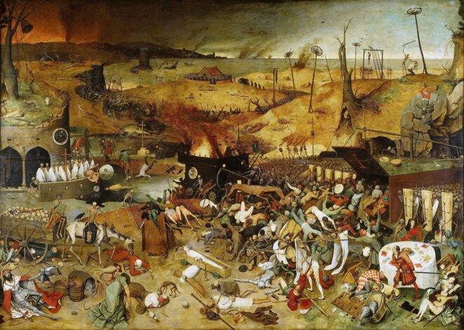 Le triomphe de la mort de Pieter Bruegel l'Ancien, 1562. Museo del Prado. Source: https://commons.wikimedia.org/wiki/File:Thetriumphofdeath.jpg
