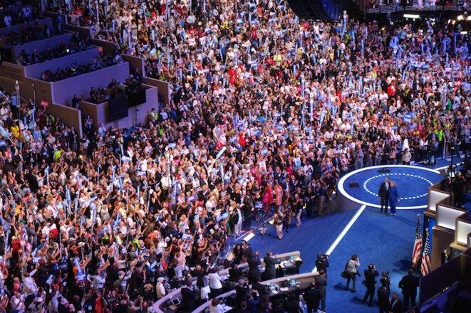 Le ticket Hillary Clinton-Tim Kaine investi par les délégués à la convention démocrate © I.D.