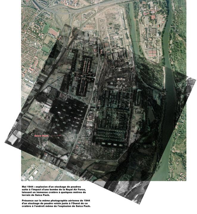© RAF (1944-05-25) et Ville de Toulouse (2001-09-27)