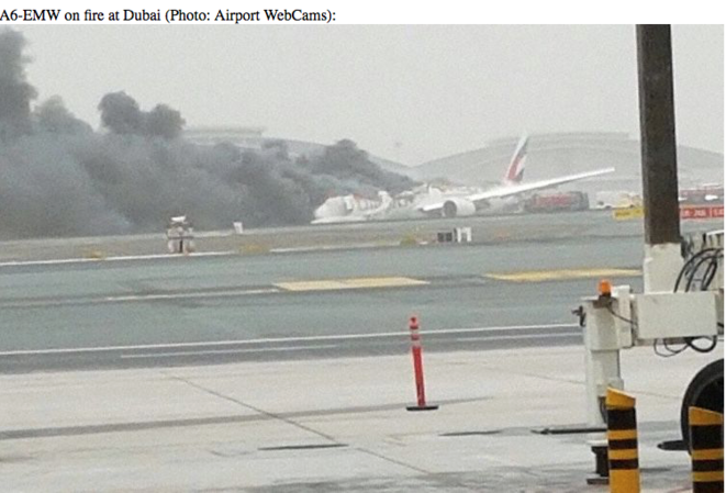 EMIRATES B777 CRASH AT DUBAI