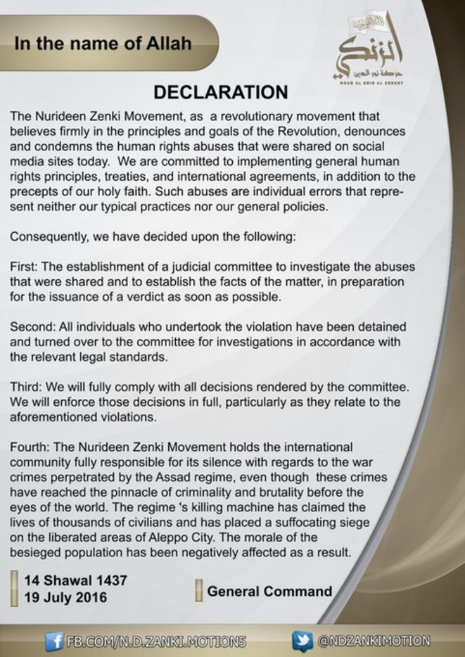 Declaration du groupe faisant parti de l'ASL : ZINKI
