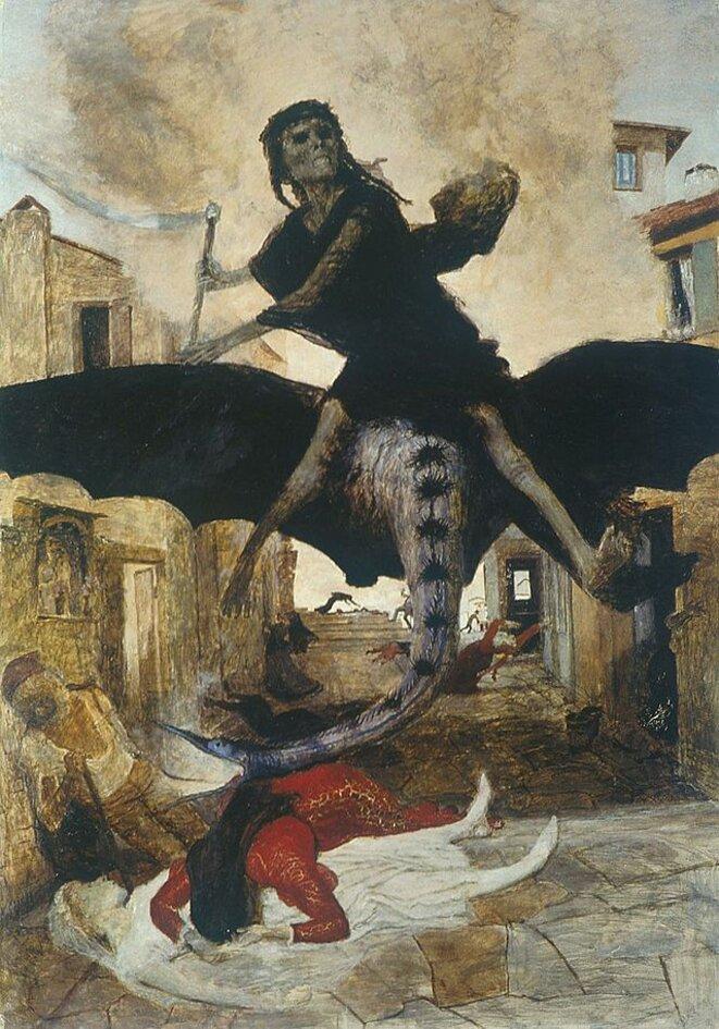 La Peste, Arnold Böcklin, Kunstmuseum Bâle, 1898