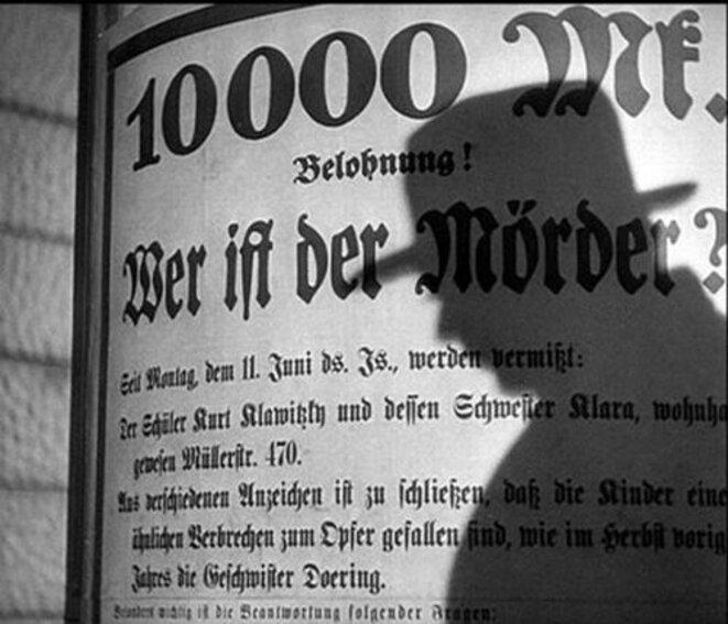 M le Maudit © Fritz Lang