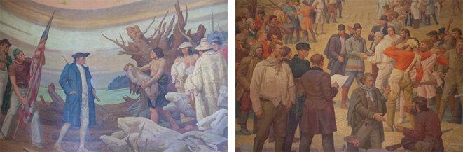 Peinture murale de la chambre des représentants de l'État d'Oregon © Thomas Haley