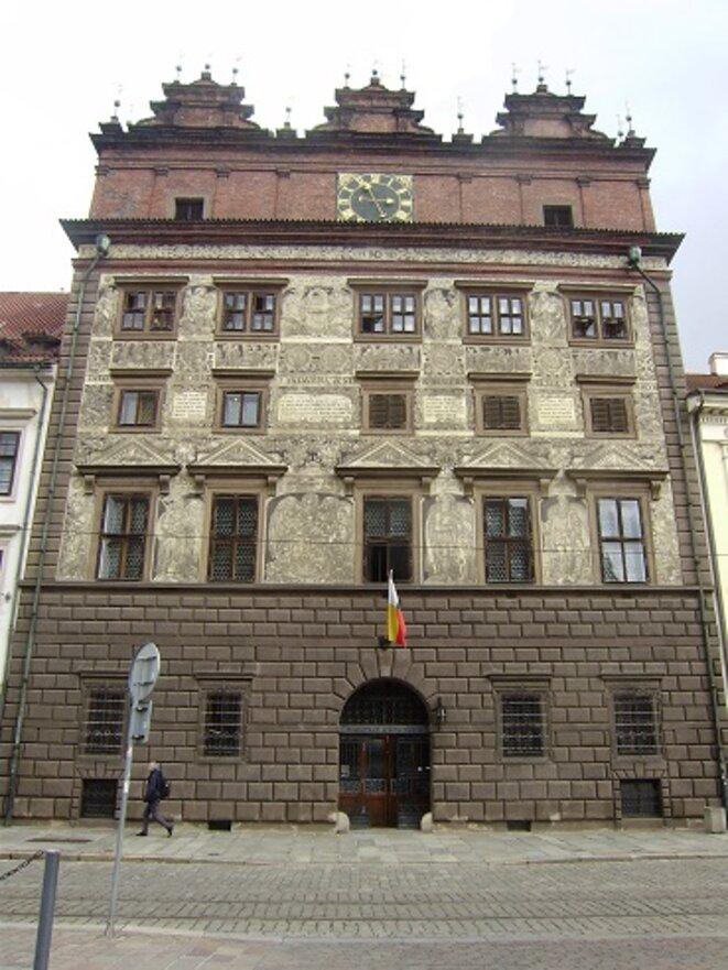L'Hôtel de Ville de Plzen (toutes les photos qui suivent sont de Plzen aussi). © VD