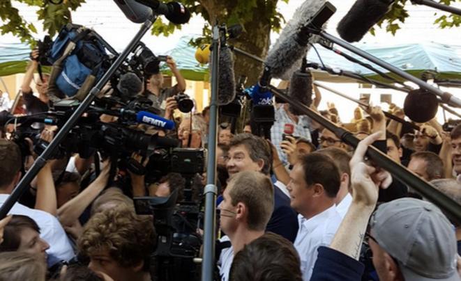 Arnaud Montebourg, dimanche à Frangy.