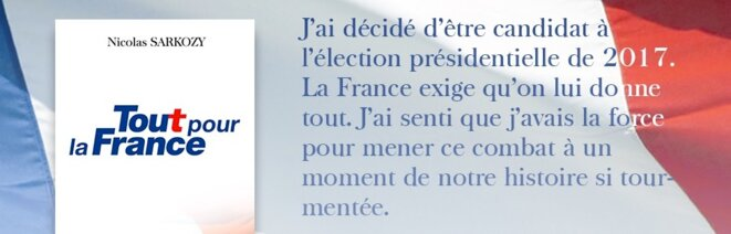 Nicolas Sarkozy's announcement on Facebook.