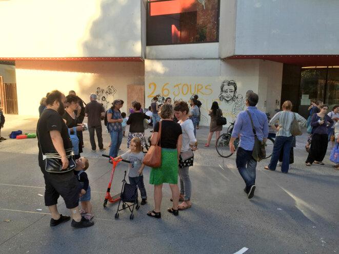 Montreuil- rassemblement de soutien aux familles roms, 22 août 2016 © Gilles Walusinski