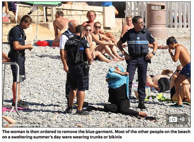 L'une des images publiées dans le Daily Mail, à Nice le 23 août.