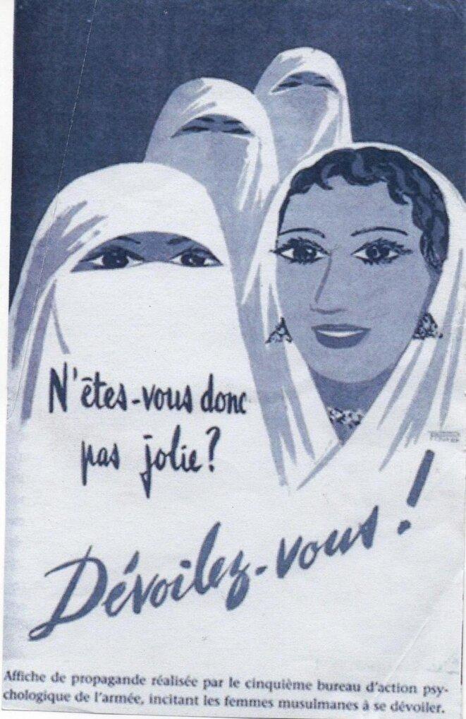« N'êtes vous donc pas jolie ? » (Affiche éditée par l'armée française, 1957-1960)