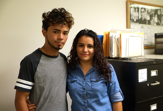 Santos et Wendy, arrivés sans papiers du Salvador. © I.D