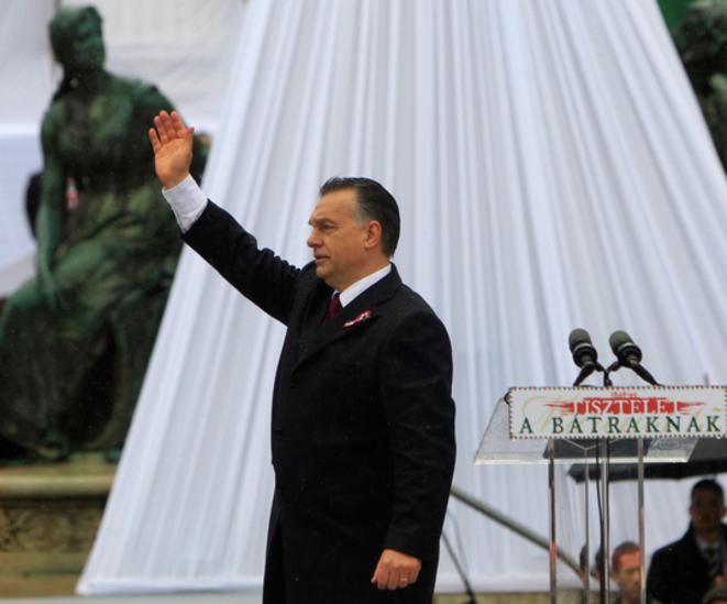Le premier ministre hongrois à Budapest le 15 mars 2016. © Reuters