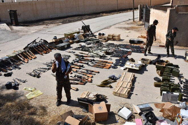 Armes saisis à la prison d'Hassaké par les YPG/YPJ