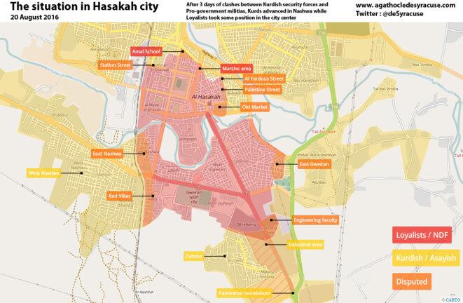 Carte de la ville au commencement des combats le 20 Août par @deSyracuse