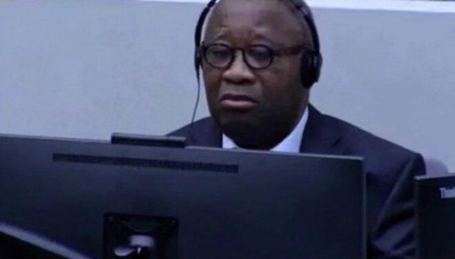 Laurent Gbagbo lors de son procès à La Haye. © Reuters