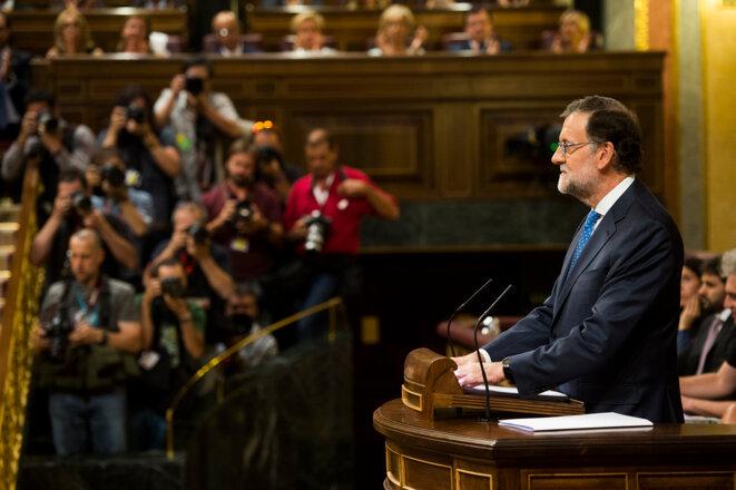 Mariano Rajoy durante la sesión de investidura, 30 de agosto de 2016. © PP/Flickr