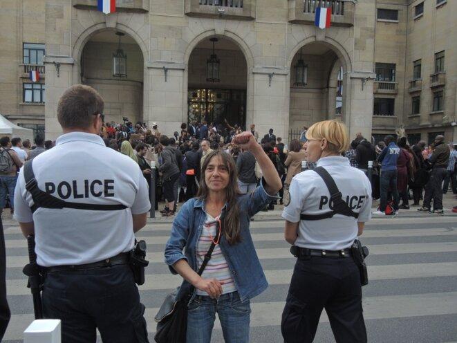 Marianne ne se taira pas. Montreuil, août 2016. © Gilles Walusinski