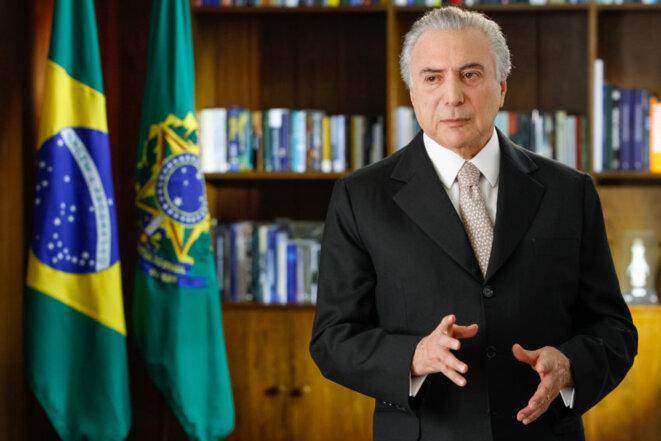 Michel Temer prend la présidence du Brésil. © Beto Barata/PR