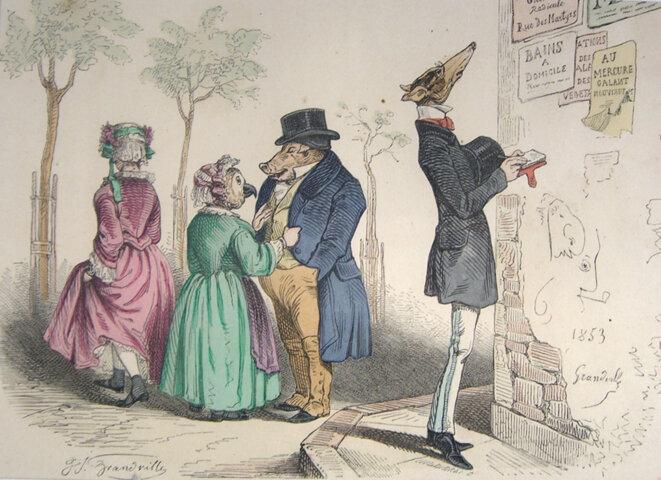 Grandville, 1853 © Jean-Jacques Grandville