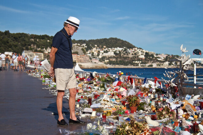 Au mois d'août 2016, à Nice. © Laurent Geslin/Mediapart