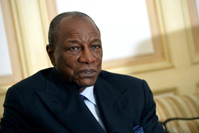 Alpha Condé, président de la Guinée. Crédits: Miguel Media/AFP
