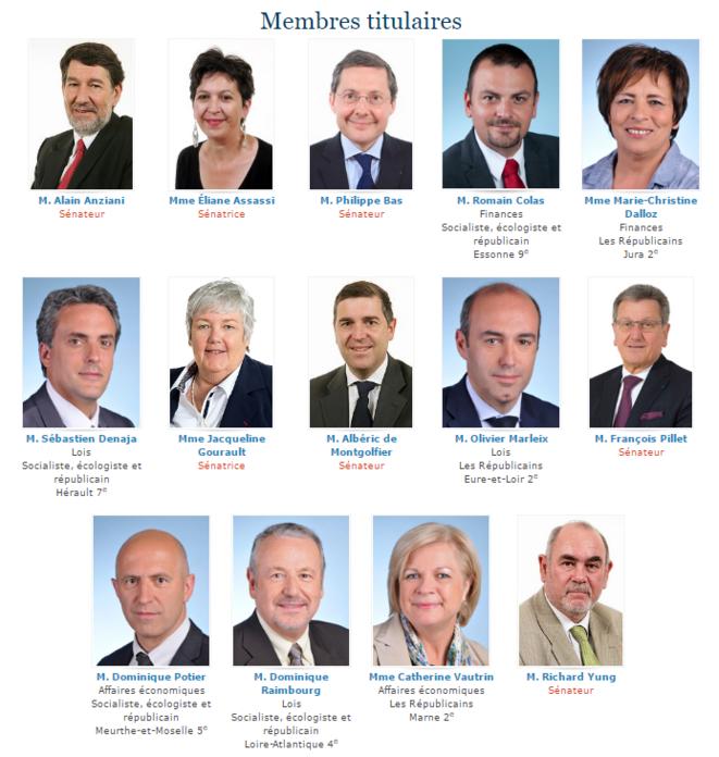 Les membres de la commission mixte paritaire chargée du projet de loi SAPIN 2