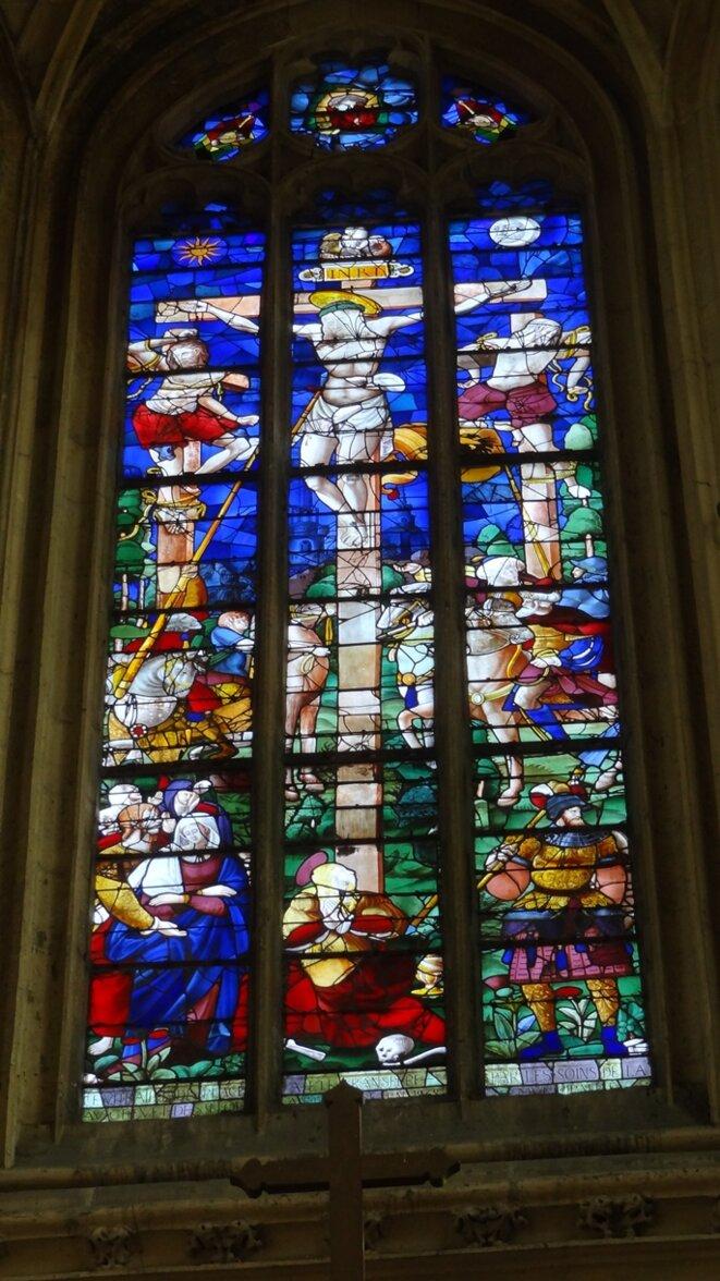 Eglise Saint-Nicaise-Vitraux Renaissance du Choeur © Laëtitia Auber-Mainot