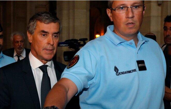 Jérôme Cahuzac lundi, à son arrivée au tribunal. © Reuters