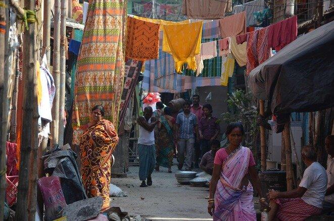 Calcuta, en el barrio de Bagbazar. © Guillaume Delacroix
